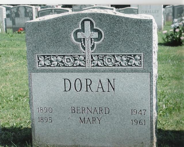 Doran gravestone at Holy Cross Cemetery. Copyright Genealogy Sisters 2016.