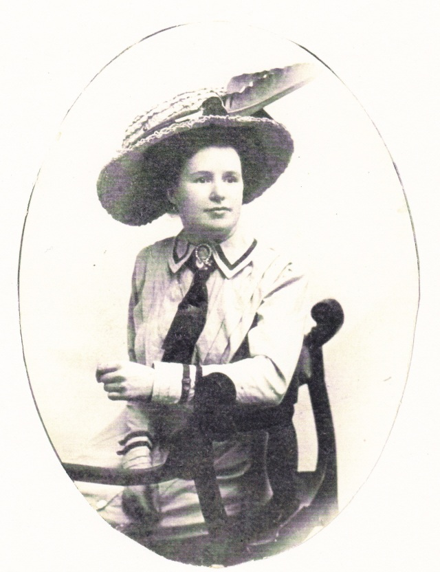 Helen Barnes came to New York City from Ireland as a young woman in search for a better life. She was introduced to her future husband because they shared the same surname. Photo circa 1910 ,from the Barnes family.