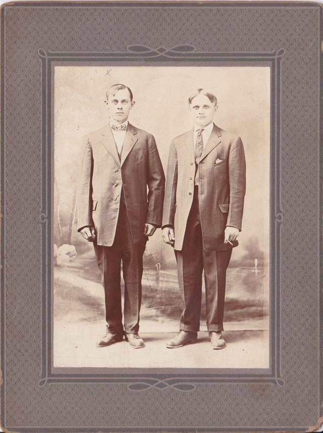 """Jan """"John"""" Wasik on left (1887-1934)"""
