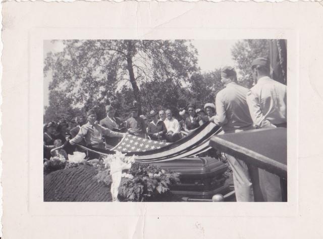 Memorial service for Paul Rozenek, 1948.