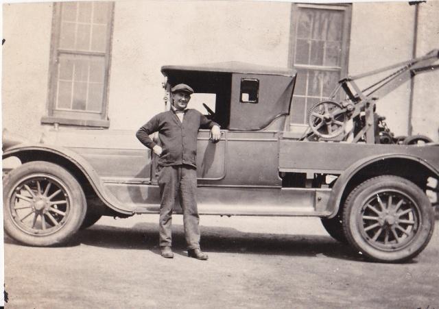 Thomas Robert Stewart (1890-1956) mechanic at the Kingston Garage in New Jersey, circa 1926.