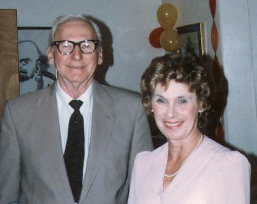 "Elizabeth ""Betty"" Doran Peck, with her brother, James."