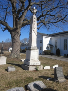 Sarah Fountain and Daniel Wandell, Moravian Cemetery.  Copyright 2013 GenealogySisters.com