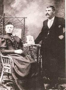 Albertina Elizabeth Satelin and August Julius Olson. Circa 1896. Photograph courtesy of Cathy Cunningham.