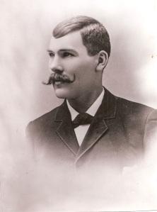 August J. Olson circa 1896 Tacoma, Washington. Photo courtesy of C. Cunningham.