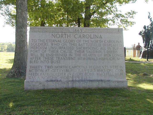 Monument for the North Carolina Confederate forces. Photo taken 2007 by Maryann Barnes.