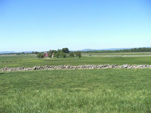 The fields of the Battle of Gettysburg. Photo taken by Maryann Barnes in 1007.