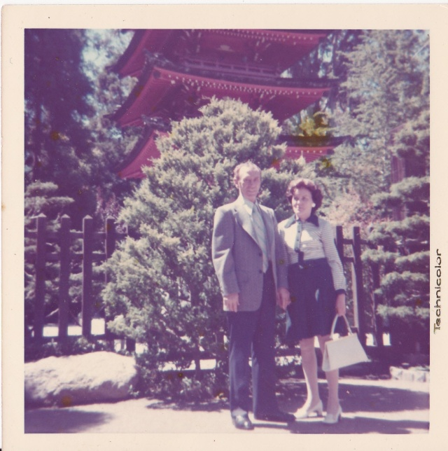 """A pagoda in Golden Cate Park. - Lillian and Peter."""