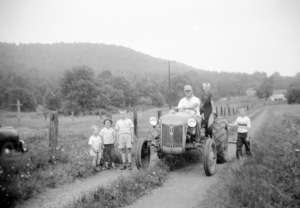 Joe Mirota on the farm. Circa 1950s.
