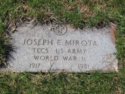 Joseph E. Mirota. Veteran memorial stone.