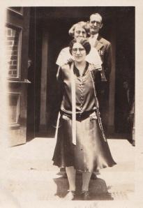 """Three Married teachers - Mrs. Alpah, Mrs. Conover and Mr. White, 1926"" Whitehouse, NJ"