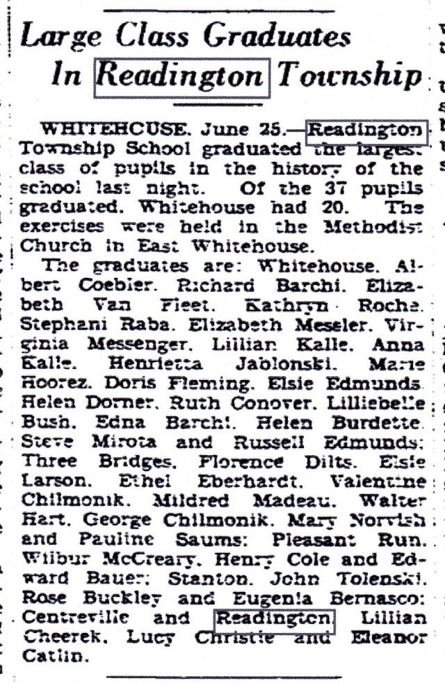 Sunday, June 26, 1927, Trenton Evening Times (Trenton, NJ), page 8. Source www.genealogybank.com