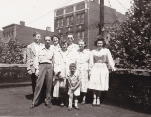 Billy, left, back row - with Doran Family - Down Neck Newark, NJ