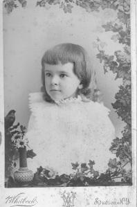 "Cornelia ""Nina"" Dakin. August 13, 1891. V. Whitebck Photographer. Hudson, NY"