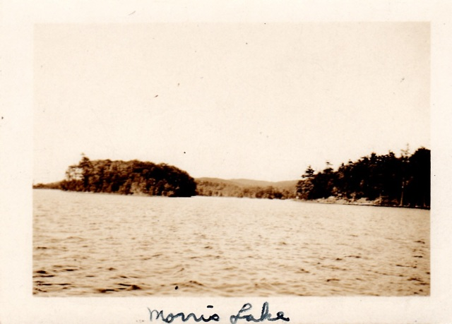 """Morris Lake Reservoir (showing the island), 1932"