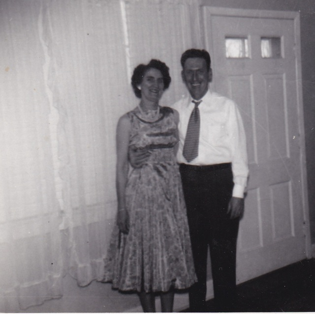 Jim and  MaryDoran, 1956. Photograph belonging to Genealogy sisters.