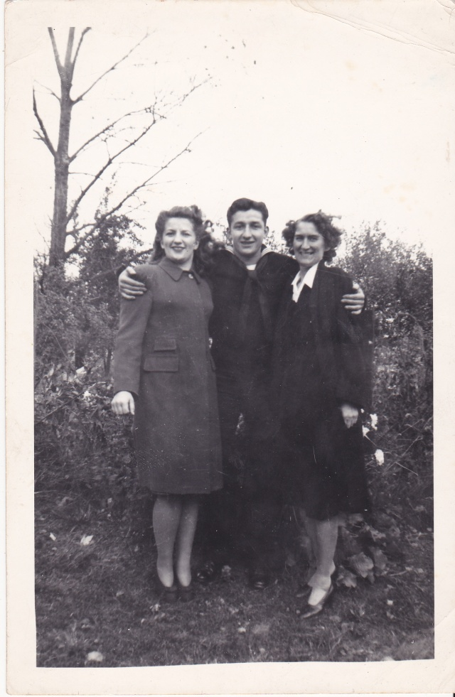 Mary Szurick Mazur, Nickolas Szurick, and Mary Mirota, 1943.