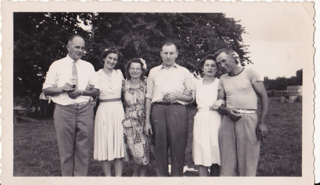 Mary Mirota is second from the left, next to her friend, Agnes. Taken on June 25, 1944 - Sunday