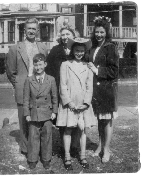 Doran family, taken on Hamilton Street, Harrison, NJ
