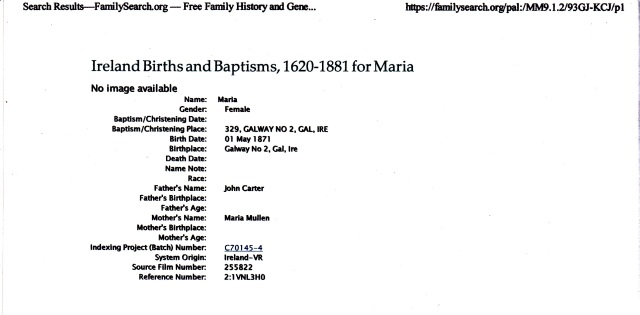 Source: Record accessed November 9, 2011. www.FamilySearch.org