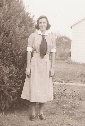 Evelyn Stewart Barnes - received a Masters in Nursing from Yale University - pictured here in her first uniform, November 1941.