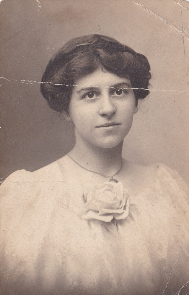 Maude Eisenberger Stewart - Taken about 1915 when she lived in York County, PA. She was known for her delicious Pennsylvania Dutch cooking, and kindness to family, neighbors, and strangers.