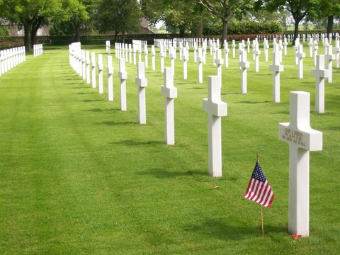 Brittany American Cemetery in France