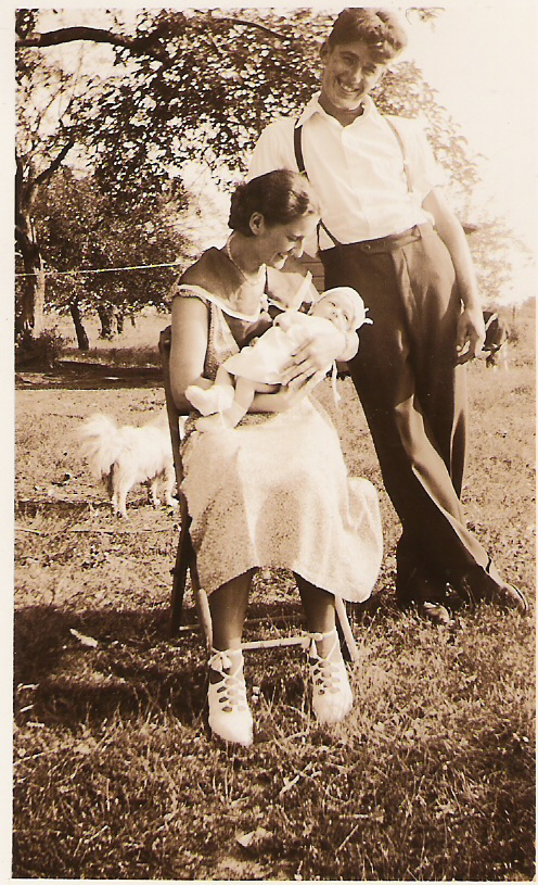 Proud auntie, Mary Mirota, and uncle, Frank Lubas - 1935