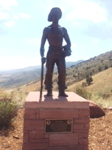 Red Rocks, Colorado - CCC Statue