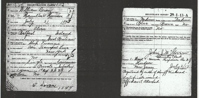 Source: New Jersey Archives. World War One Draft Cards. Registration County: Hudson; Roll: 1712199; Draft Board: 4.