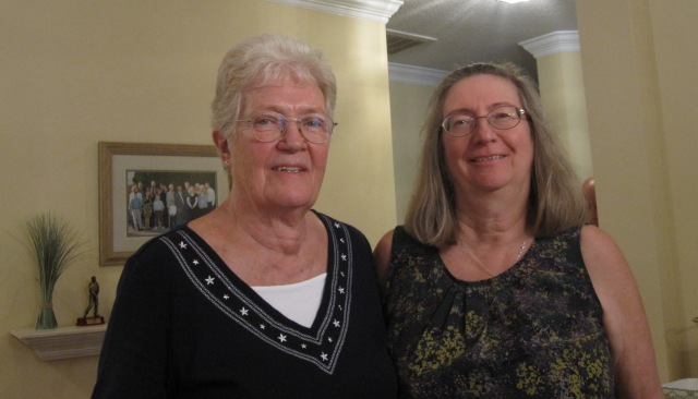 With my father's first cousin, MaryLou. Photo copyright Genealogy sisters.