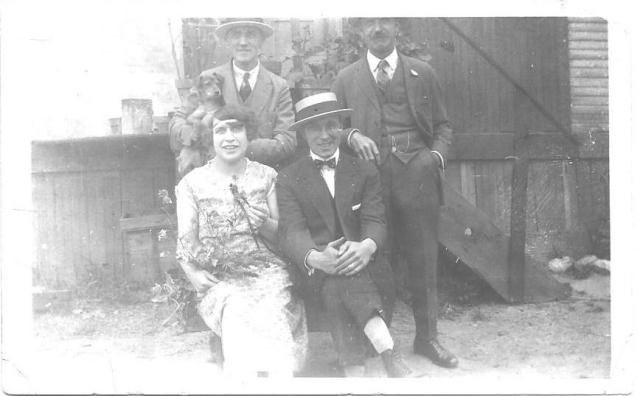 Thought to be Arthur and Sarah Doran, in the front, and taken in Belfast. Photograph from Phil Doig.