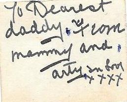 Written on back of photo of Sarah and ARthur Doran.