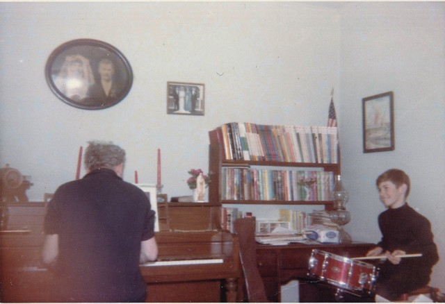 """Dad and John making music 1965"""