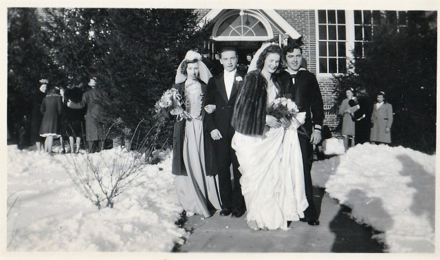 Wedding of Dorothy Daggett and George Radomski, Jan. 10/45