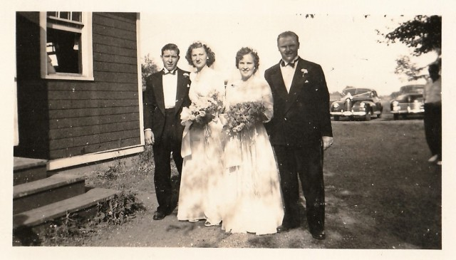 Wedding of John Szczeck and Stell Chaissou - July 3rd, 1945