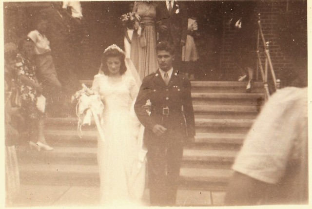 Our Lady of Lourdes, August 17th, 1943, Saturday. Mr. and Mrs. Stanley Mazur.
