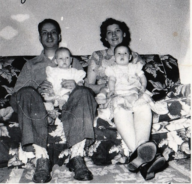 Eugene and Stella Teyssier with their twins.