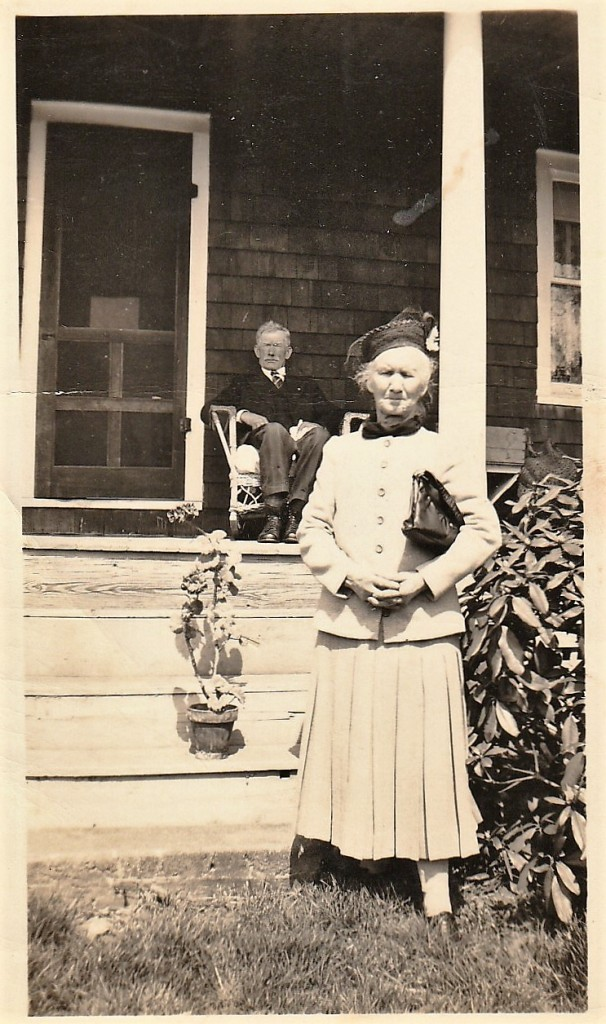 Joseph and Sophia Mirota by the front of their house in Readington Township, New Jersy.