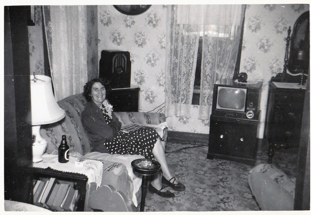 Mary Mirota Doran relaxing at her home.