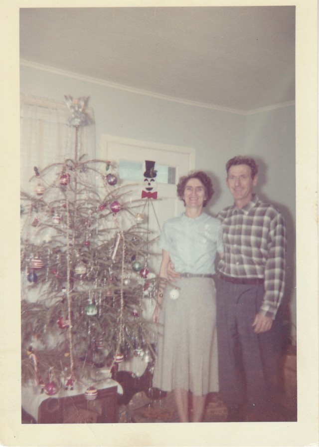 Christmas 1961 - Mary and James